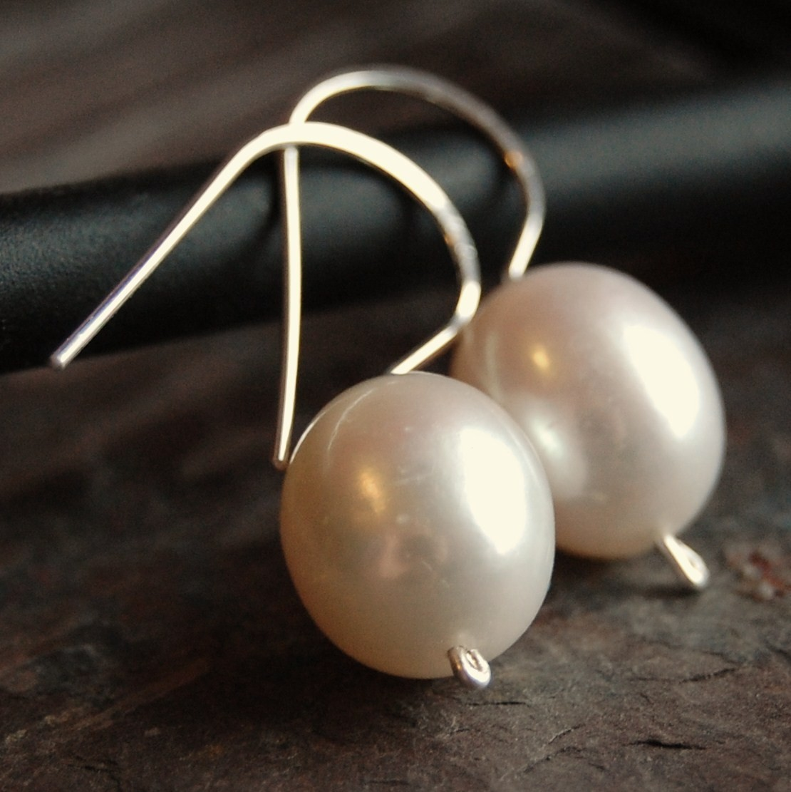 Jewelry, white, Earrings, Bridal, Pearls, Plump