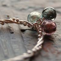 Jewelry, Bracelets, Bracelet, Glass, Venice, Venetian, Mauve