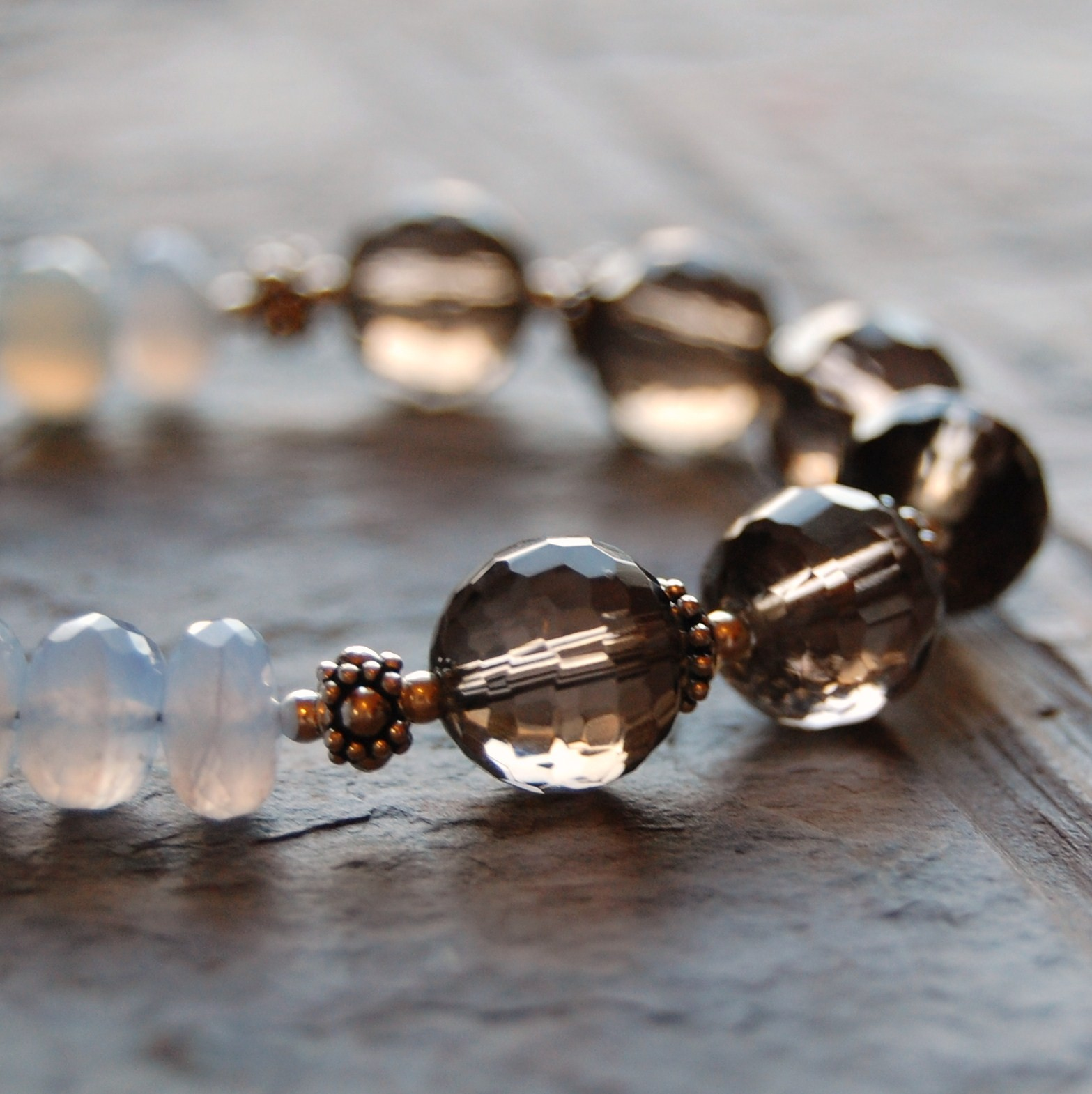 Jewelry, Bracelets, Bracelet, Smokey, Quartz, Faceted