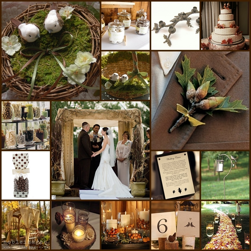 Rustic Wedding Color Ideas: Woodsy Rustic Touches To Combine With The Rosy Copper Moss