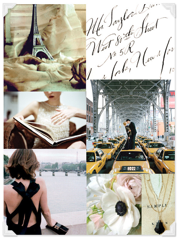 Inspiration, white, ivory, black, Board, Paris, Cream