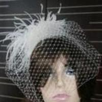 Beauty, Veils, Fashion, Feathers, Veil, Bridal, Birdcage, Headpiece, Fascinator, Feather, Breeziway llc, Feather Wedding Dresses
