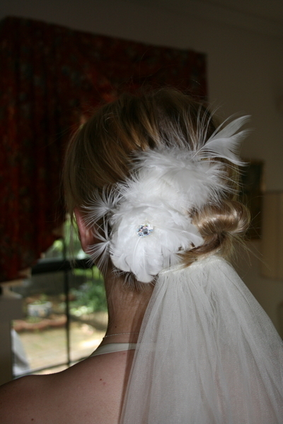 Beauty, white, Feathers, Bridal, Headpiece, Peacock, Fascinator, Feather, Breeziway llc