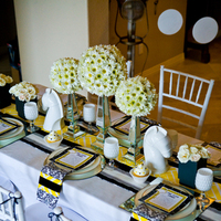 Flowers & Decor, yellow, black, Centerpieces, Flowers, Centerpiece, Palm, Springs, Deco, Lollipop events and designs
