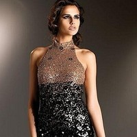 Wedding Dresses, Fashion, black, gold, dress, Cocktail, Mini, Couture, Sequins, Idressonline, Sequined, Terani