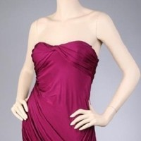 Wedding Dresses, Fashion, dress, Strapless, Strapless Wedding Dresses, Drape, Plum, Pleated, Idressonline, Rayon