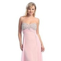 Bridesmaids Dresses, Wedding Dresses, Fashion, pink, dress, Bridesmaid, Strapless, Strapless Wedding Dresses, Dresses, Chiffon, Size, Plus, Evening, Beaded, Sequin, Idressonline, Chiffon Wedding Dresses