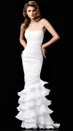 Fashion, white, Gown, Cocktail, Designer, Strapless, Strapless Wedding Dresses, Dresses, Gowns, Size, Plus, Evening, Discount, Large, Idressonline, Dalia, Dr