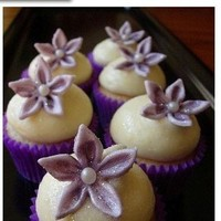 Flowers & Decor, Cakes, purple, cake, Flowers, Cupcake, Lavender, Sugar, Posh planning