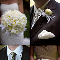 Beauty, Flowers & Decor, Feathers, Bride Bouquets, Bridesmaid Bouquets, Bride, Flowers, Bridesmaid, Groomsman, Dana jeremy photography