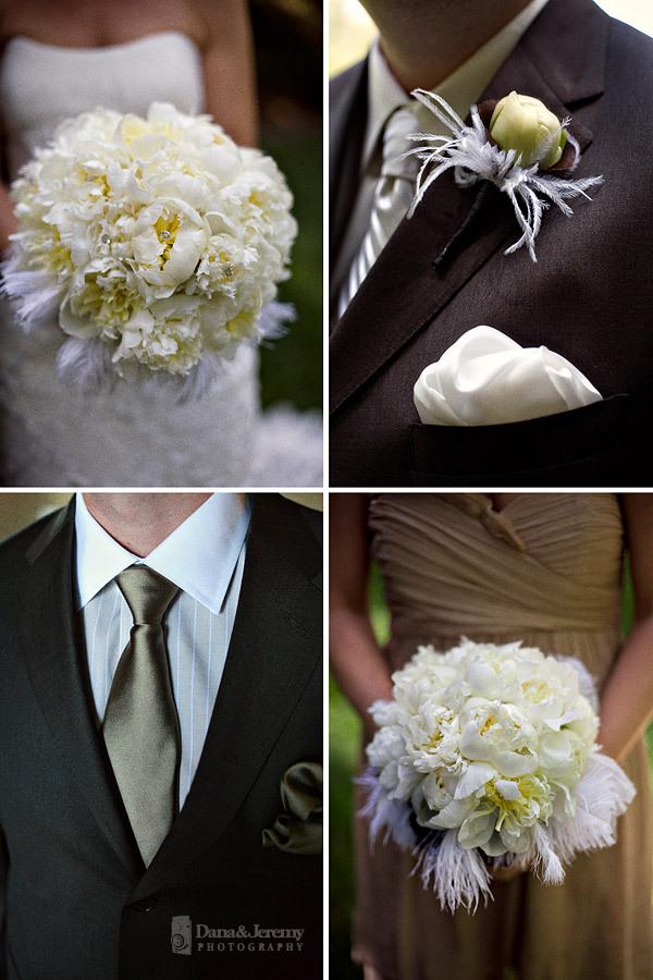 Beauty, Flowers & Decor, Feathers, Bride Bouquets, Bridesmaid Bouquets, Bride, Flowers, Bridesmaid, Groomsman, Dana jeremy photography