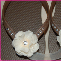 DIY, Flowers & Decor, ivory, brown, Flower, Bm, Flip, Flops