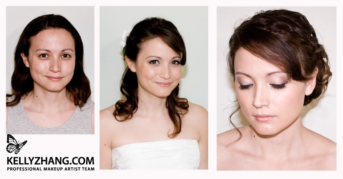 Beauty, Makeup, Before, After, And, Kelly, Kelly zhang make up artists and hair stylists team, Zhang