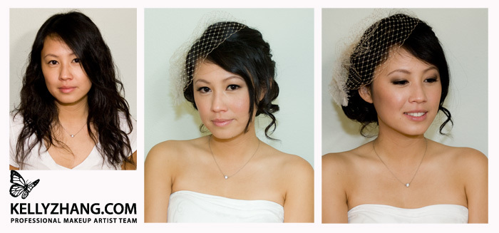 Beauty, Veils, Fashion, Makeup, Veil, Birdcage, Kelly, Kelly zhang make up artists and hair stylists team, Zhang