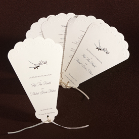 Stationery, Ceremony Programs, Programs, Wedding, Unique, Elegant bridal invitations, Galore