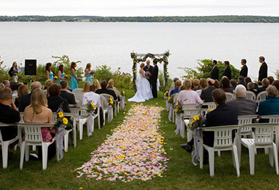 Ceremony, Flowers & Decor, Lake, Outdoor ceremony, Heidel house resort