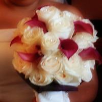Flowers & Decor, ivory, Bride Bouquets, Flowers, Bouquet, Calla, Burgandy, Dees petals, Lilys