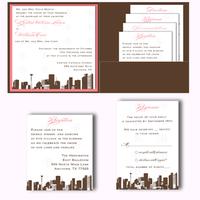 Stationery, invitation, Invitations, Custom, Pocketfold, Design, Skyline, Graphic, Belletristics