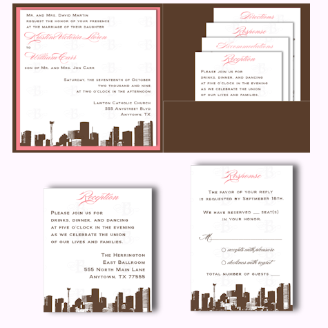 Stationery, invitation, Invitations, Custom, Pocketfold, Design, Skyline, Graphic, Belletristics