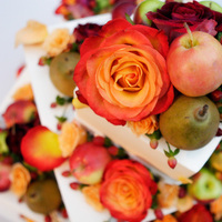 Flowers & Decor, Cakes, orange, red, cake, Flowers, Fruit