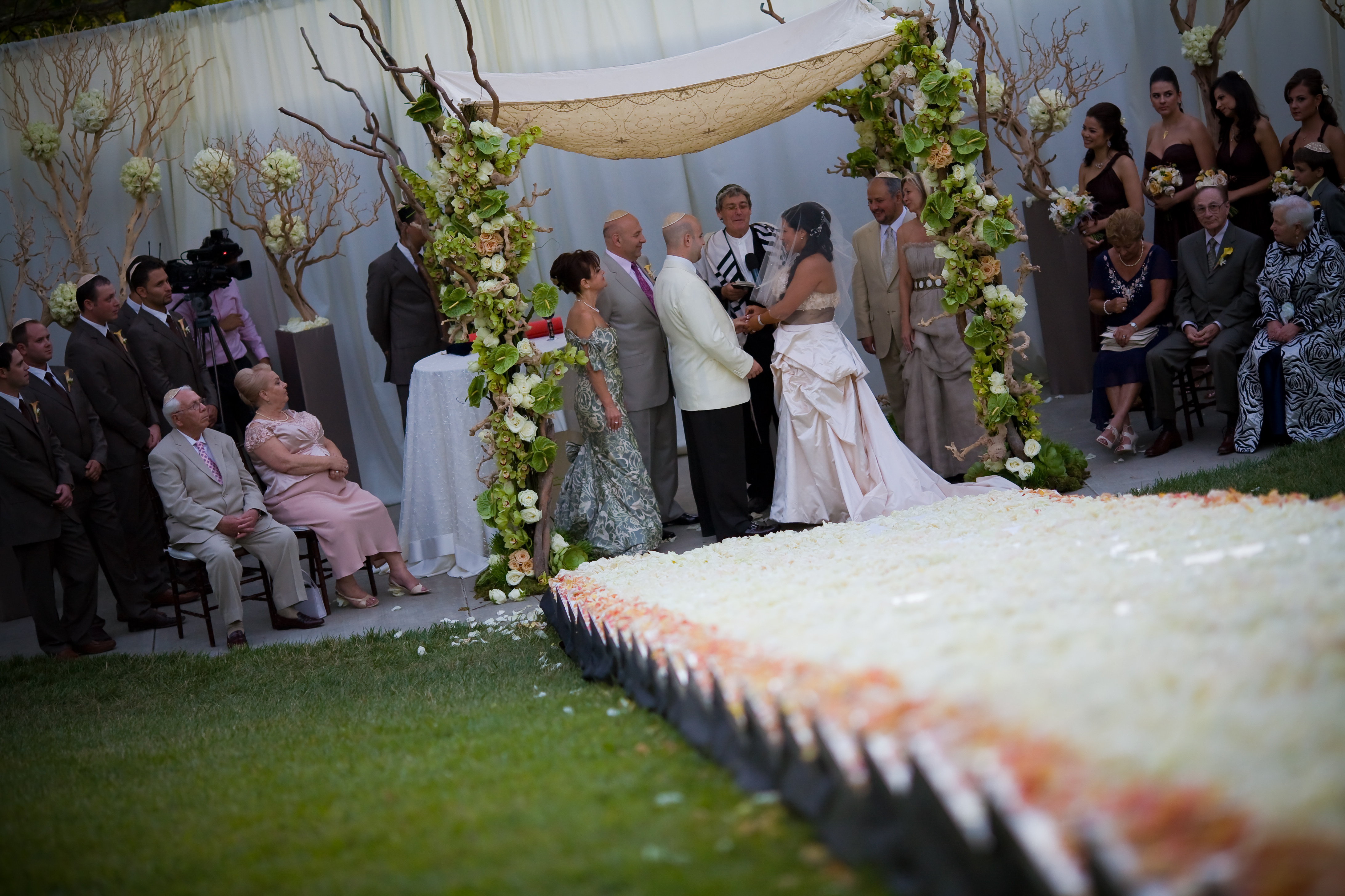 Ceremony, Flowers & Decor, white, Huppah