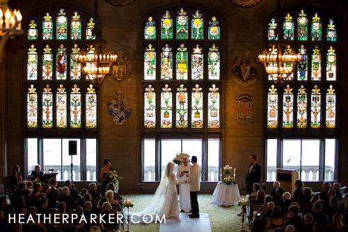 Ceremony, Flowers & Decor, Photography, Wedding, Of, Cathedral, Club, Hall, Heather, Parker, Chicago, University, University club of chicago