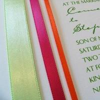 Stationery, orange, pink, green, Modern, Invitations, Island distinctive occasions