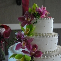 Flowers & Decor, Cakes, pink, green, cake, Flowers, Orchids, Freesia, Designs by courtney
