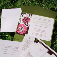 Stationery, Garden Wedding Invitations, Invitations, Program, Rsvp, Concentric design