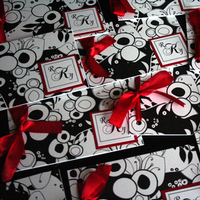 Stationery, Destinations, white, red, black, Invitations, Wedding, Destination, Ribbon, Booklet, Spoonful of sugar invitations creations inc
