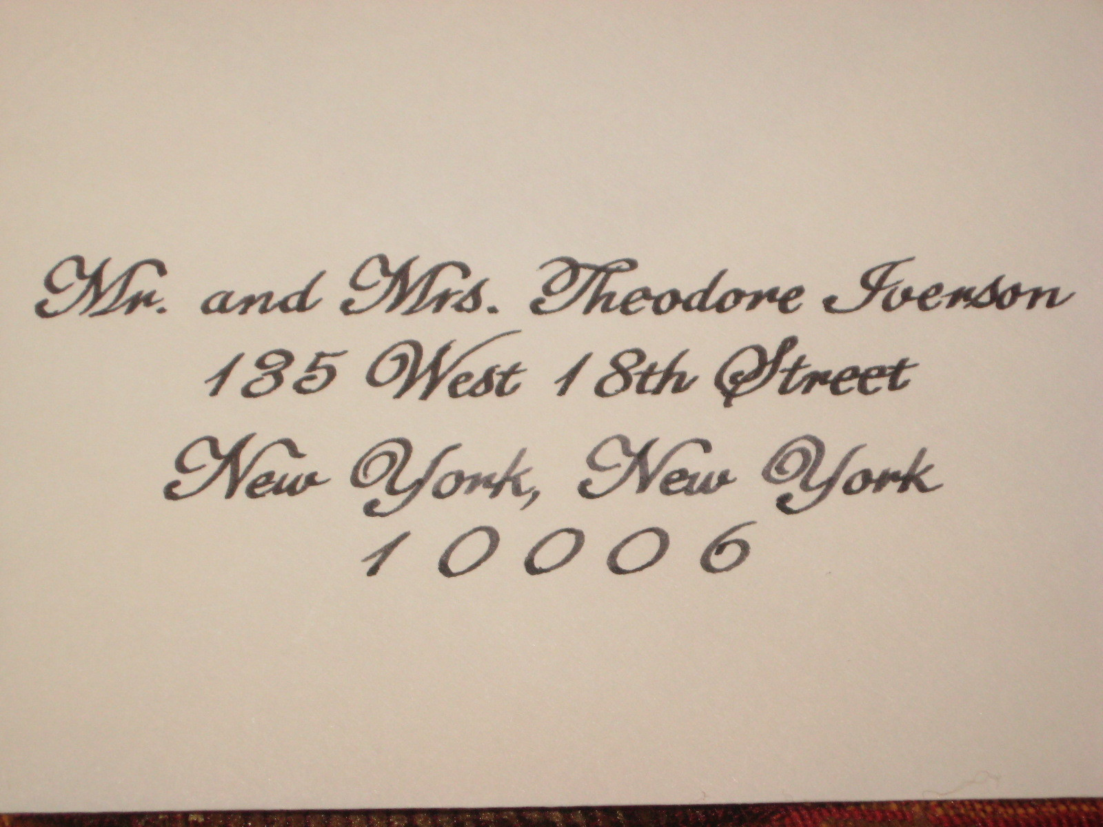 Calligraphy, llc, Envelope, Addressing, A fine line, Handwritten
