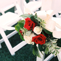Flowers & Decor, white, red, Aisle Decor, Flowers, Roses, Aisle