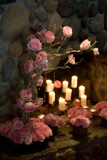 pink, brown, Candles, Centerpiece, Orchid, Las, Lomas, In the now weddings and events, Organic, Fireplace, Ranchos