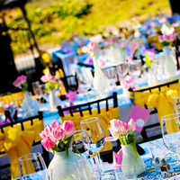 Flowers & Decor, white, yellow, pink, black, Modern, Tables & Seating, Of, Long, Vase, Tulips, Banquet, Tables, Runners, In the now weddings and events, Sashes, Collection, Vases, Funky, Mod, Chiavaris