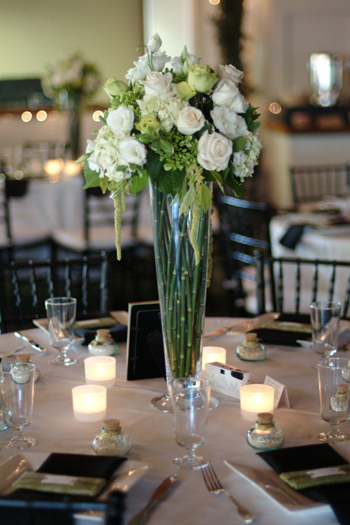 Flowers & Decor, white, green, black, Centerpieces, Vintage, Flowers, Vintage Wedding Flowers & Decor, Centerpiece, Tall, Jim, In the now weddings and events, Kennedy, Hollywood, Bridges