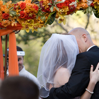 Ceremony, Flowers & Decor, Decor, yellow, orange, green, Ceremony Flowers, Garden, Outdoor, Flowers, Garden Wedding Flowers & Decor, Tropical, Kiss, Arch, The, Island, Chiffon, In the now weddings and events, Petal, Treasured