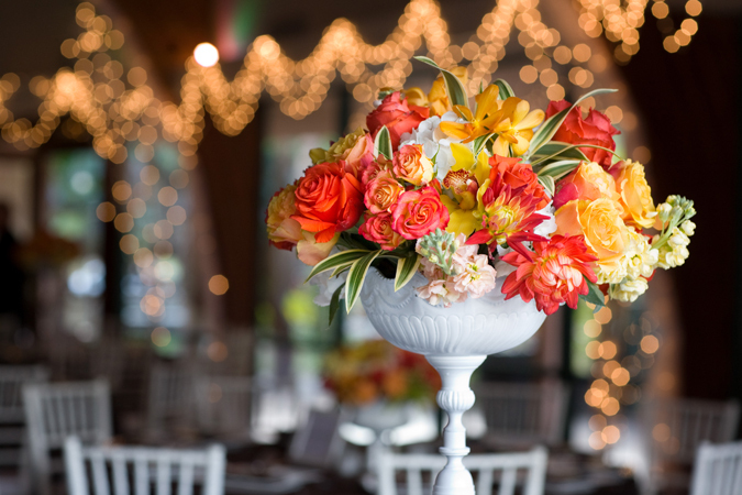 Flowers & Decor, Wedding Dresses, Fashion, white, yellow, orange, green, dress, Garden, Orchid, Tropical, Rose, Chair, The, My, In the now weddings and events, Petal, Indoor, Leaves, Olive, Bridges, Treasured