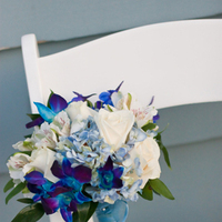 white, blue, Bride Bouquets, Beach Wedding Flowers & Decor
