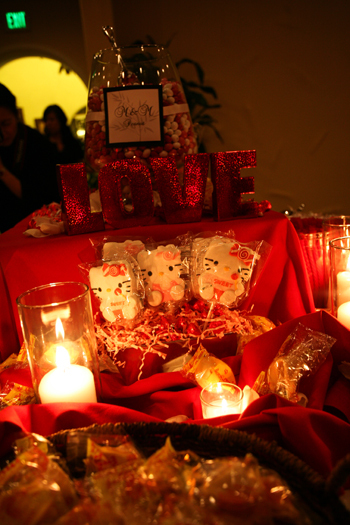 white, pink, red, Round, Dessert, Candy, Buffet, The, Villa, In the now weddings and events, Hello, Kitty