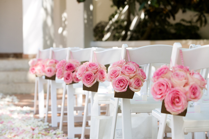 Flowers & Decor, pink, Ceremony Flowers, Aisle Decor, Garden Wedding Flowers & Decor, Spring Wedding Flowers & Decor