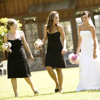 Bridesmaids, Bridesmaids Dresses, Fashion, white, pink, black, Bride, And, Peonies, A taylor made wedding