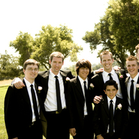 white, black, Groomsmen, And, A taylor made wedding