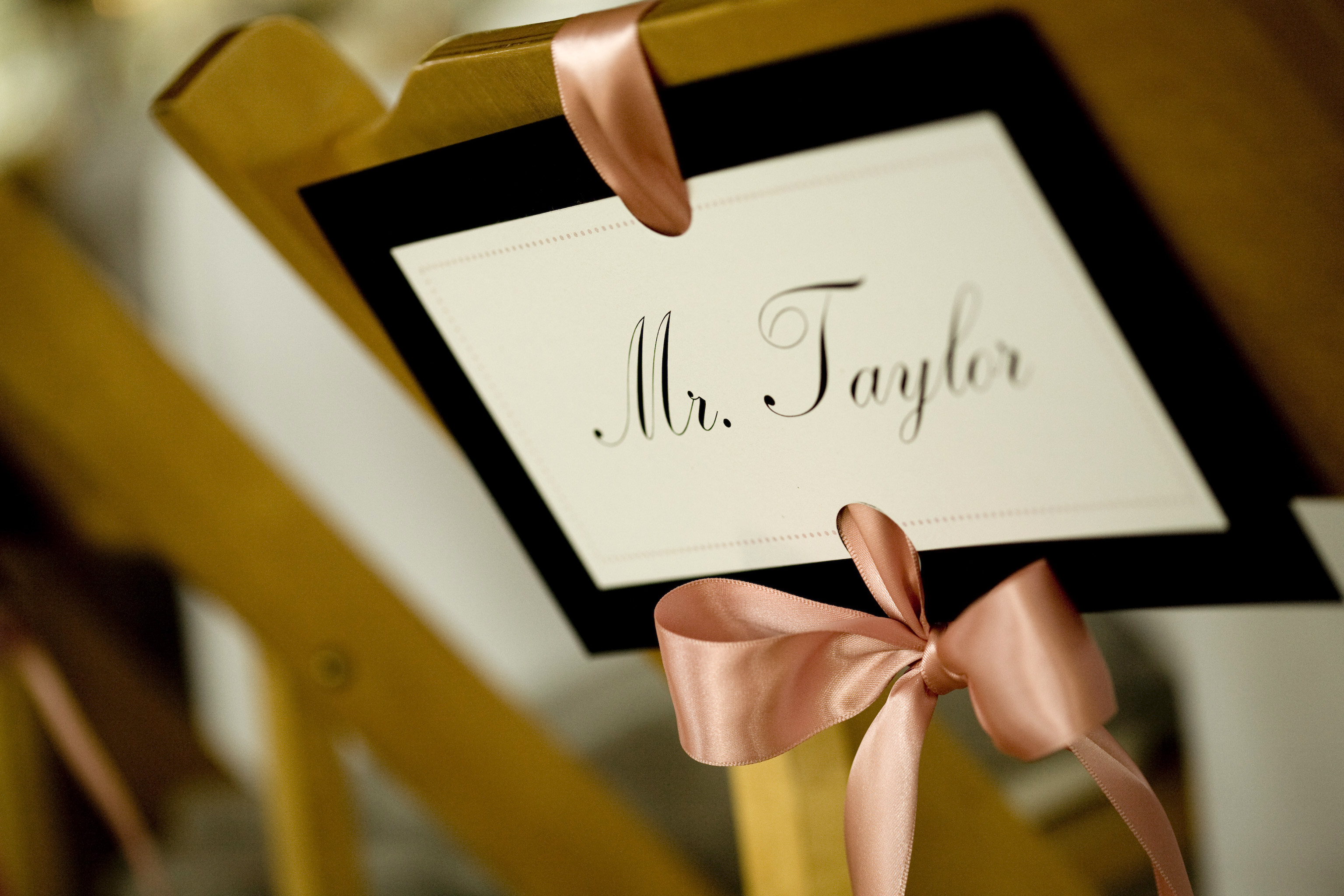 Reception, Flowers & Decor, white, pink, black, Table, And, Label, Stationary, Seat, A taylor made wedding