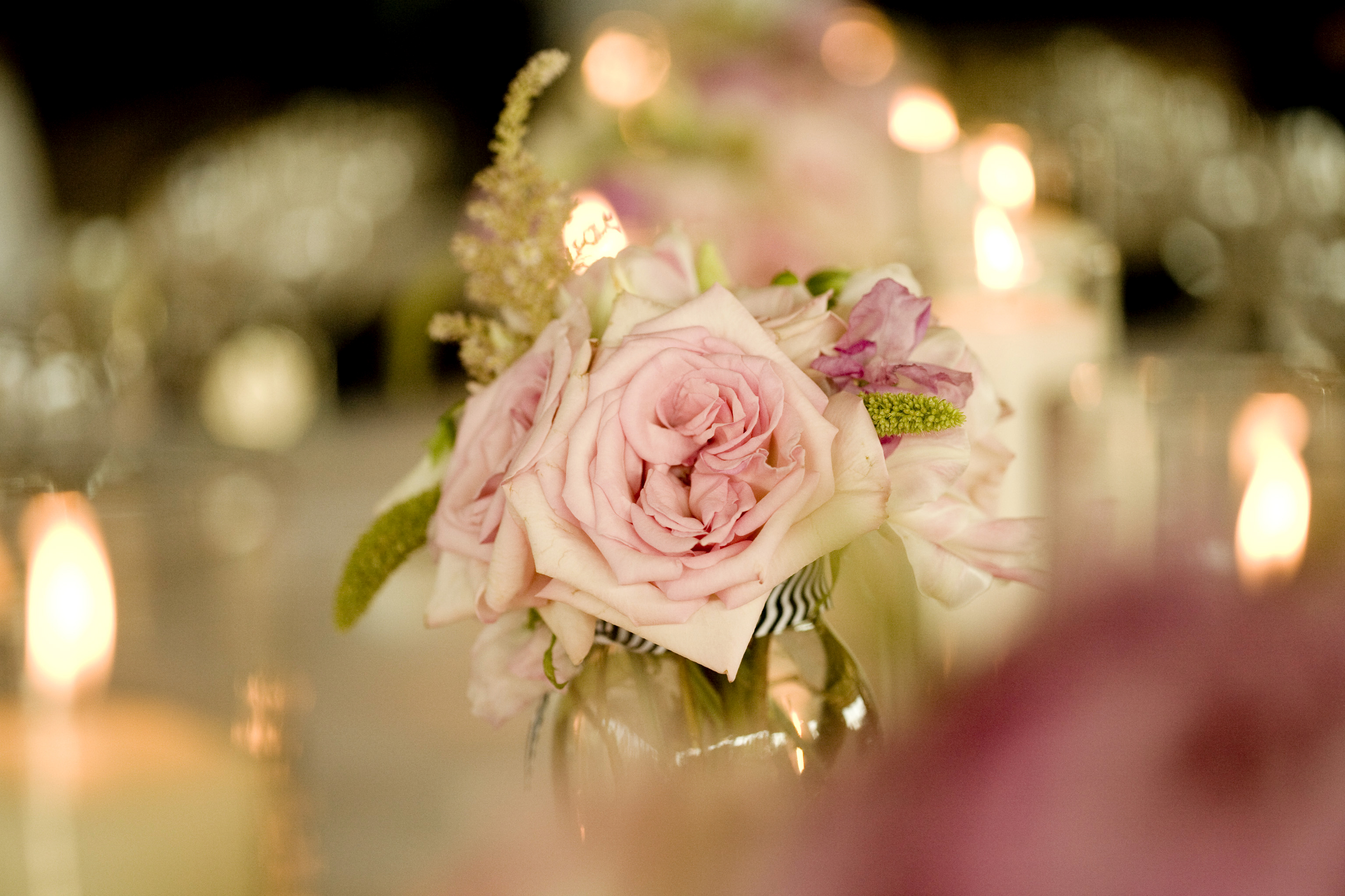 Reception, Flowers & Decor, pink, Candles, Flowers, Table, Peonies, A taylor made wedding