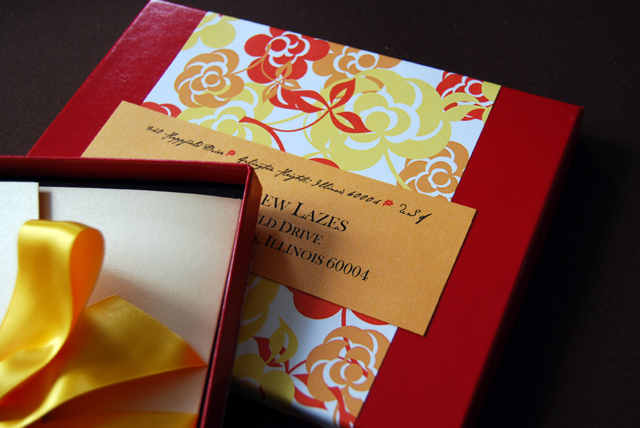 Destinations, yellow, orange, red, Destination Weddings, Mexico, Custom, Bilingual, Envelopments, Destination wedding, Italian, Bella carta studio, Pocketfold invitation, Boxed invitation