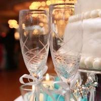 Reception, Flowers & Decor, Decor, ivory, blue, Champagne, York, New, Ladybugg