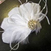 Beauty, Feathers, Vintage, Wedding, Hair, Bridal, Accessory, Fascinator, Barrette, Feather, Donnaella wedding accessories
