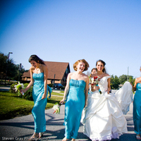Bridesmaids, Bridesmaids Dresses, Fashion, Modern, Bride, Outdoor, Maid of honor, Outdoors, Modern Wedding Dresses