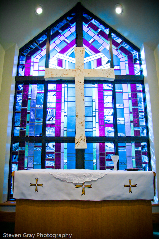 Church, Stained glass, Window, Light