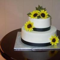 Flowers & Decor, Cakes, cake, Edible, Flowers, Wedding, Sunflower, Small, Taste see cakery